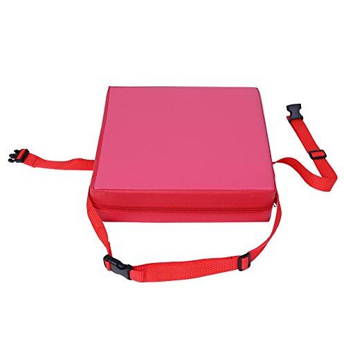 Almohadilla de refuerzo, silla de comedor ajustable de diseño de moda ligera para comedor para silla para bebé(Frente rojo)
