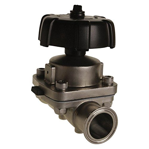Diaphragm Valve | Tri Clamp 1.5 inch - Stainless Steel SS316 / EPDM/PTFE - Glacier Tanks - (2 Pack)