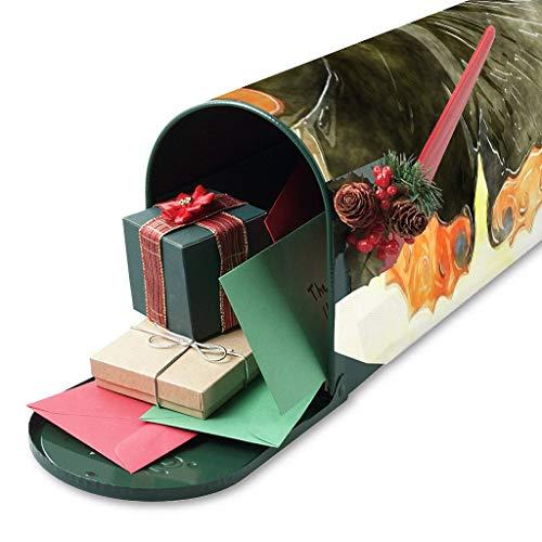 Cubierta de buzón de mariposa pintada a mano, para decoración de jardín, diseño de buzón magnético para buzón de correo, ideal como regalo para amigos, color blanco, 47,5 x 57,5 cm
