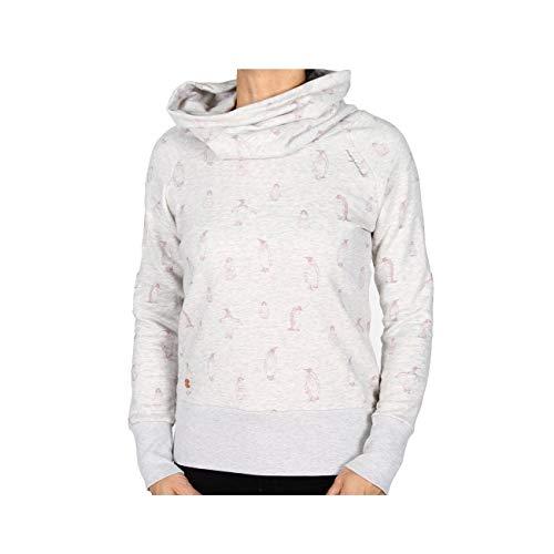 mazine Kookynie Heavy Turtle Neck Sweater Off White Melange Penguins L