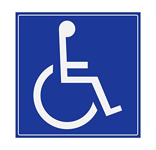 Supstick Handicapé Stickers - Mobility Aid - Vierkant Formaat 25 x 25 cm