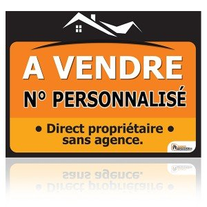 immo-panneaux.com Panneau A Vendre 60x80 cm - N° TEL Personnalisable *****