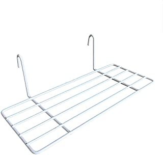 AceList Straight Shelf Rack for Walll Grid Panel Wall Mountable Basket Wire Organizer Storage Flower Pot Display Desk Decor White