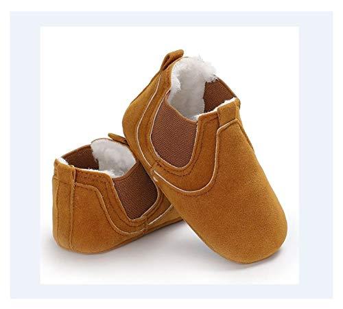 WanXingY Lindo bebé niño Zapatos de solación Suave para bebés niñas niñas Zapatos cómodos de Cuero Zapatos Antideslizantes (Color : 13 18 Months, Size : B)