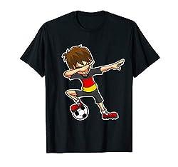 Dabbing Fußball Jungen Deutschland Trikot Deutsch Kinder Dab T-Shirt