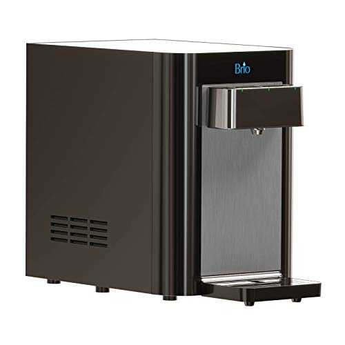 Brio Self-Cleaning Countertop Bottleless Water Cooler Dispenser - with 2-Stage Water Filter and Installation Kit, Tri Temp Dispense, UV Cleaning - Black