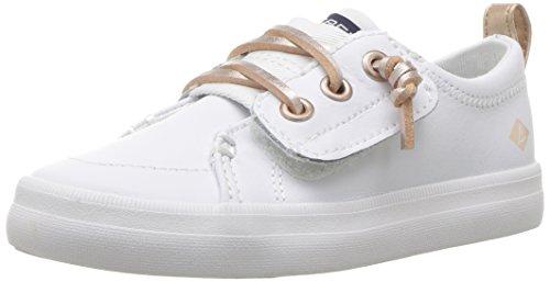 Sperry Girls' Crest Vibe JR Sneaker, White Leather, 6.5 Medium US Toddler