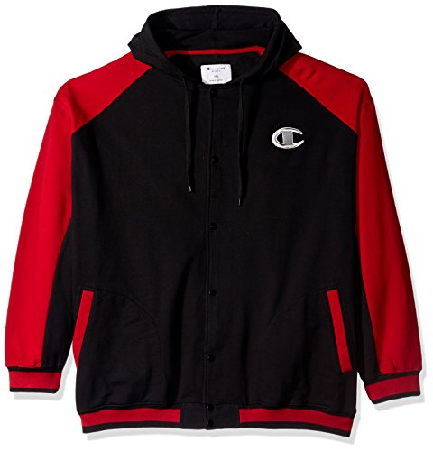 red and black champion hoodie - 2