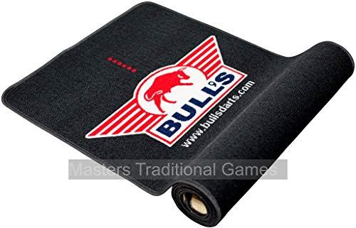 Bulls Dartteppich 300 x 65cm (Schwarz/Rot)