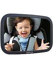 Mapalou Lusterko do tylnego siedzenia dla niemowląt, wykonane z odpornego na pękanie materiału, lusterko wsteczne do fotelika dziecięcego i fotelika dla niemowląt, obracane o 360°, lusterko samochodowe dla dzieci w optymalnym rozmiarze, lusterko bez pojedynczych części, tylne siedzenie