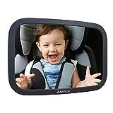 Mapalou Specchietto Retrovisore auto bambini, materiale infrangibile, Specchio regolabile neonato, controllo bimbo in seggiolino, vista baby, sedile posteriore, senza part singole, ruotabile di 360°