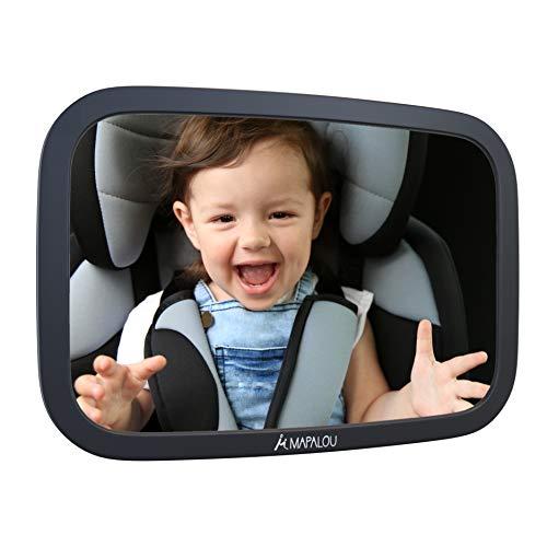 Mapalou Specchietto Retrovisore auto bambini, materiale infrangibile, Specchio regolabile neonato, controllo bimbo in seggiolino, vista baby,...