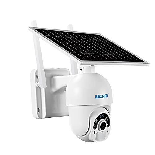 TFACR Cámara De Seguridad Exterior, Kits Video Portero Puerta, Solar Powered 4G Hogar De La Cámara IP 1080P con La Batería Recargable Dos Vías De Audio De Detección De Movimiento PIR