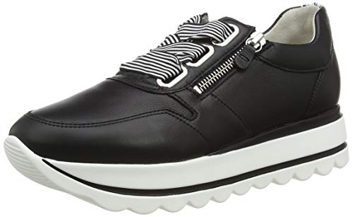 Gabor Damen Jollys 43.412 Sneaker, Schwarz (Schwarz/Weiss 27), 42 EU
