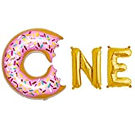 """Rose&Wood 16"""" One Letter Balloons,One Rose Gold Letter Balloons,First Birthday Donut Theme,Donut Theme Birthday,Donut Theme Cakesmash,One Donutsmash"""