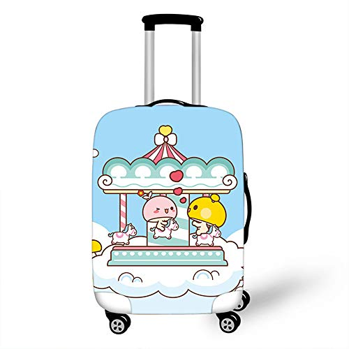 Elastic Luggage Cover, CNNINHAO 3D Print Trolley Case Protective Travel Suitcase Anti Scratch Dustproof Resistant Case Trolley Skin Protector Elasticized Washable (6,XL (30-32inch))
