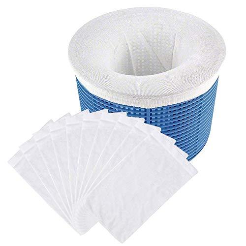 Gobesty Pool Skimmer, 20 Stück Skimmer Socken, Pool Filter Netz, für Entfernt Gras, Blätter Öl, Pollen, Insekten und Haare