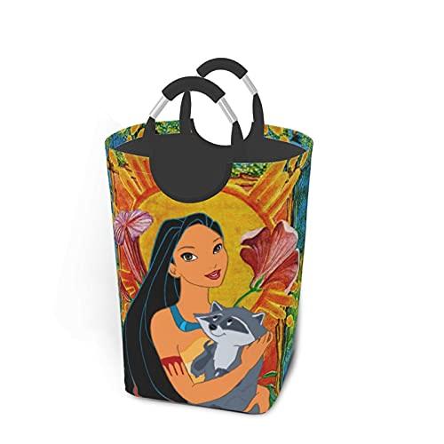 Anime Pocahontas Meeko - Paquete de ropa sucia, plegable, para viajes, baño, hogar, universidad, dormitorio para hombres y mujeres, 50 L