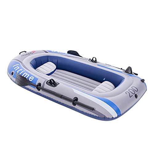 LOVOICE Barco hinchable, barco de pesca, 2-3 personas, bote inflable, kayak con cuerda de bomba de aire