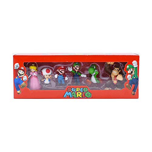 YUNDING Super Mario Peluches 6pcs / Set 4-7cm Super Mario Br