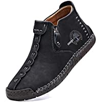 Alcubieree Men's Casual Leather Loafers