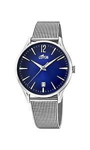 Lotus Watches Reloj Análogo clásico para Hombre de Cuarzo con Correa en Acero Inoxidable 18405/3