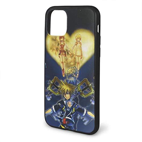 Kingdom Hearts Sora Compatible con iPhone 12/12 Pro MAX 12 Mini 11 Pro MAX SE 2020 X/XS MAX XR 8/7 6/6s Plus Fundas de teléfono de protección Negra