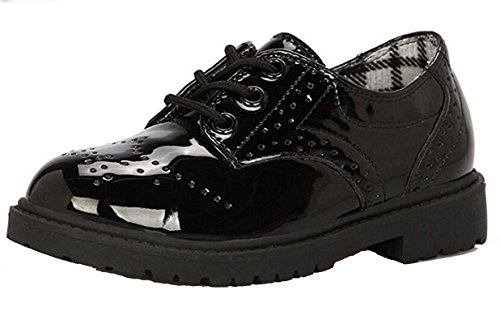 Kids' Boys' Girls' Lace-up Oxford Dress Shoe (Toddler/Little Kid/Big Kid) Size 2 Black