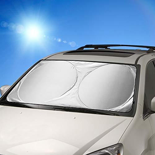 Parasole per parabrezza, FRECOO Parasole per auto per la Parabrezza Anteriore, Auto Protezione Parabrezza Protettore Contro i Raggi UV, Tendina Parasole Accessori per Auto in Estate -160 x 86cm