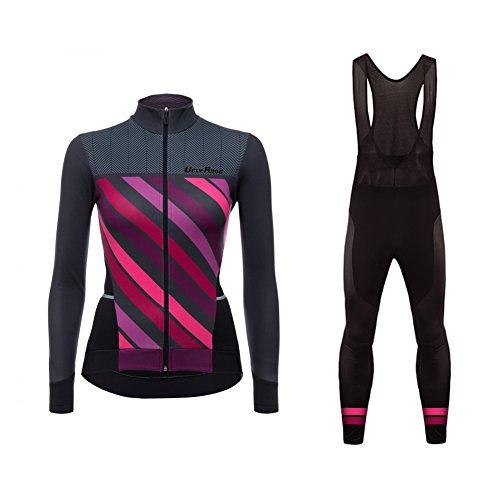 Uglyfrog Bike Wear Lady Thermo Maillot para Mujer+Bib Pantalones con Gel 3D MESQXFNC01