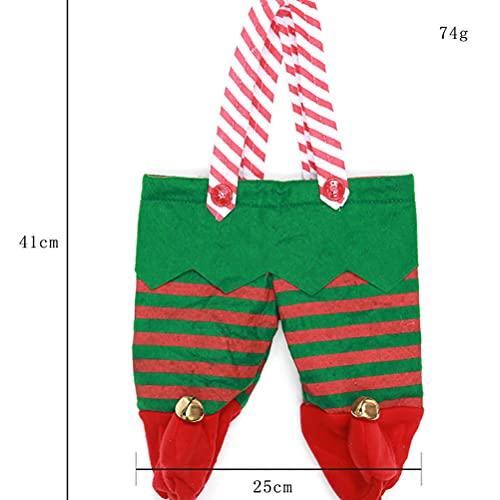 Chiyyak Bolsa de vino de Navidad con forma de pantalones de hadas, para 2 botellas de vino