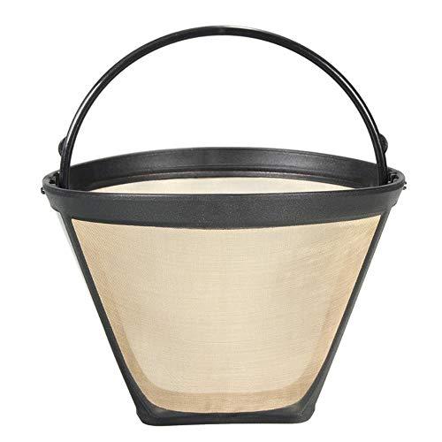LASISZ Nuttige Herbruikbare Koffie Filter Permanente Cone-Stijl Koffiemachine Filter Gouden Gaas Met Handvat Café Koffie Tool