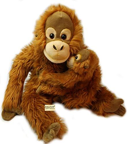 Orang Utan mit Baby ca. 28 cm Plüschtier Kuscheltier Stofftier Plüsch 167 von Zaloop® (Orang Utan mit Baby)