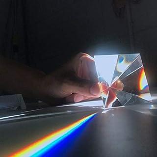 WHHHuan 1pc 100mm Cristal Optique K9 Pyramide de Verre Prisme Arc-en-Ciel Photographie Prisme