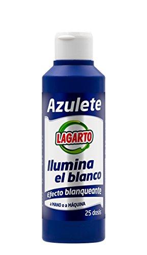 Lagarto Aditivo de Lavado, Azulete, 25 Lavados, Blanco, Paquete de 15 x 250 ml, Total 3750 ml