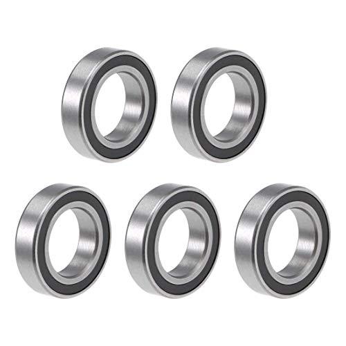 R1038-2RS - Rodamientos de bolas de garganta profunda, 3/8 pulgadas x 5/32 pulgadas, rodamiento de palanca Z2 sellado, 5 piezas