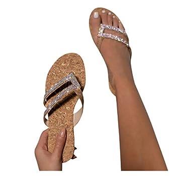 Black Wedge Sandals for Women Women Summer Flip Flop Women Rhinestone Owl Sweet Sandals Clip Toe Sandals Beach Shoes 2020