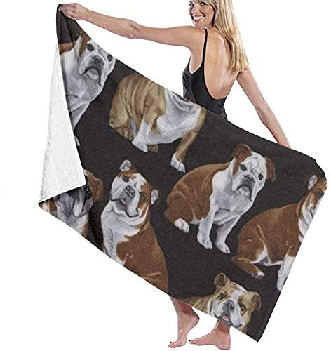 Asciugamano ad asciugatura rapida English Bulldogs Bath Towel Vintage Beach Towel Fast Drying Swim Blanket Portable Boat Camping Cloth