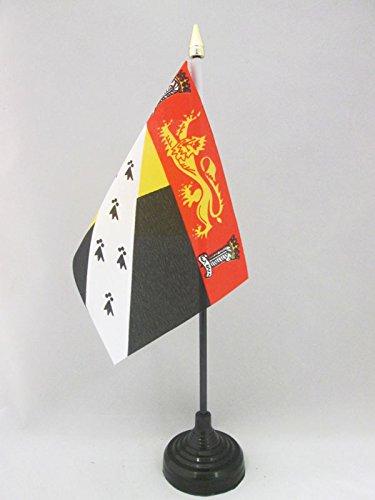 AZ FLAG TISCHFLAGGE GRAFSCHAFT Norfolk 15x10cm goldene splitze - Norfolk TISCHFAHNE 10 x 15 cm - flaggen