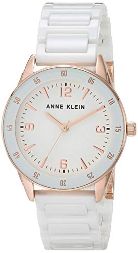 Anne Klein Women's Ceramic Bracelet Watch, AK/3658