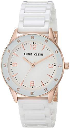 Anne Klein Reloj de pulsera de cerámica para mujer