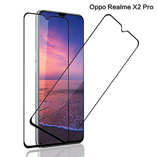 SNUNGPHIR® Realme X2 Pro Cristal Templado [2 Pack] [Cubierta Completa] [Alta Definición] Protector Pantalla de Cristal Templado para Realme X2 Pro,3D Touch Anti-Arañazos