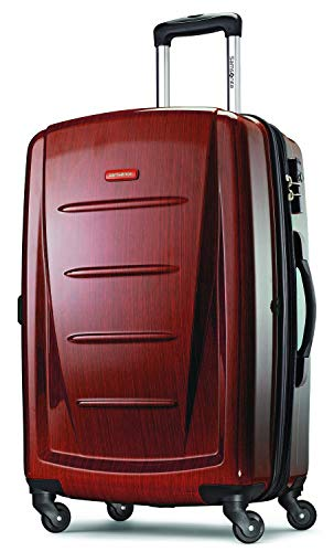 Samsonite Winfield 2 Hardside Luggage, Burgundy, Checked-Large