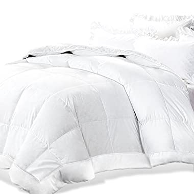 Adoric All-Season White Down Alternative Quilted Comforter with Corner Duvet Tabs, Hotel Quality Duvet Insert Queen (88 x88 ), Machine Washable, Hypoallergenic, Soft & Warm