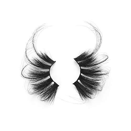 YangYun 3D Mink Hair False Eyelashes 1 Pair 70mm Eye Makeup Tools Criss-cross Super Long Fluffies 70mm Lashes Lash Extension(R003)