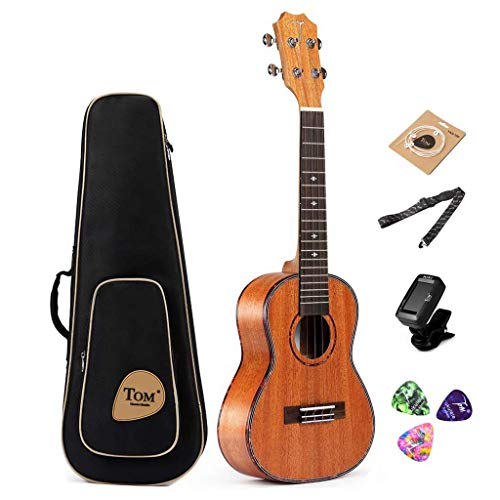 Concert Ukulele Bundle,23 inch Professional Tom Baritone Ukulele Starter Small Guitar Beginner African Mahogany for sale …