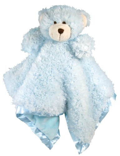 Stephan Baby Plush Cuddle Bud Security Blankie, Blue Bear