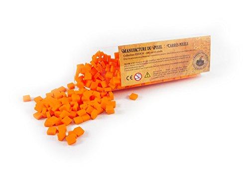La Manufacture du Pixel - Boîte 400 carrés Pixels (Orange) - Pixel Art, Loisir Créatif, Mosaïque, Fun ! - Créez à l