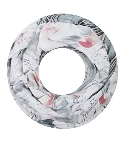 Majea NEUE Saison Damen Loop Schal viele Farben Muster Schlauchschal Halstuch in aktuellen Trendfarben (grau 20)