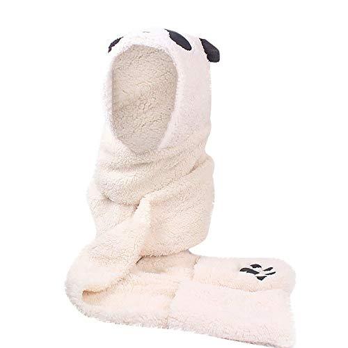 Preisvergleich Produktbild ZWXIN Kunstpelz Panda Form Hut Handschuhe Tasche,  Frauen Warm Winter Warmhalten